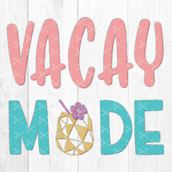 Vacay Mode SVG File