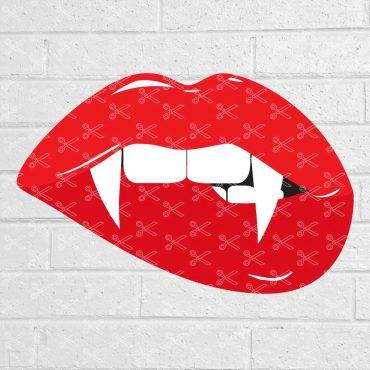 Vampire Red Lips SVG