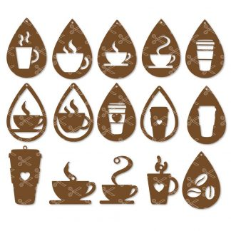 Coffee Earrings SVG