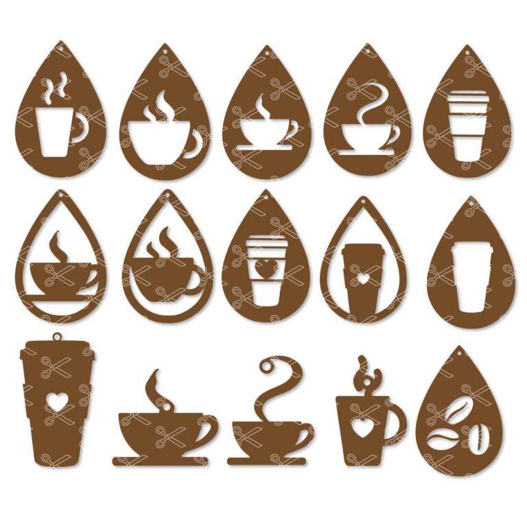 Coffee Earrings SVG