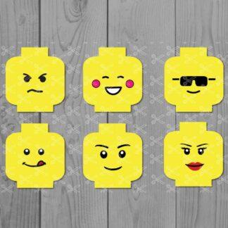 Lego Head Emoji SVG