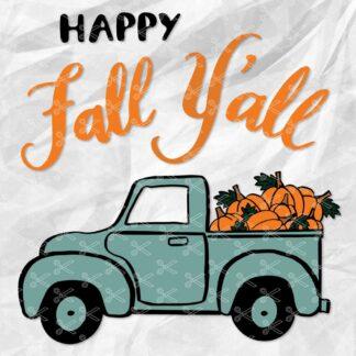 Pumpkin Truck SVG File
