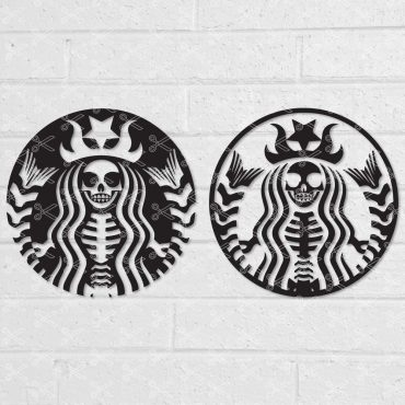 Starbucks skeleton svg