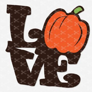 LOVE Pumpkin Fall Autumn Halloween