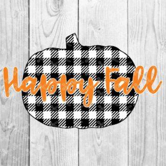 plaid pumpkin svg