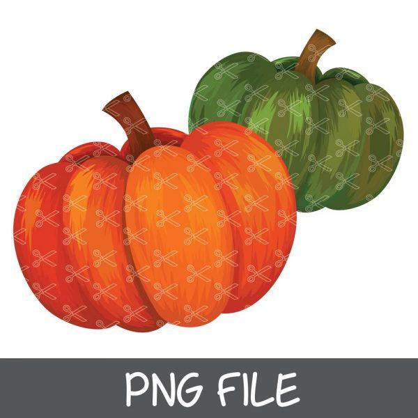 Colorful Painted Pumpkin PNG Sublimation Download