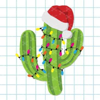 Christmas Cactus SVG File
