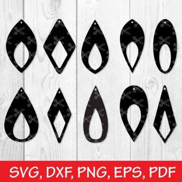 Faux Leather Earrings SVG