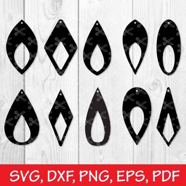 Faux Leather Earrings SVG