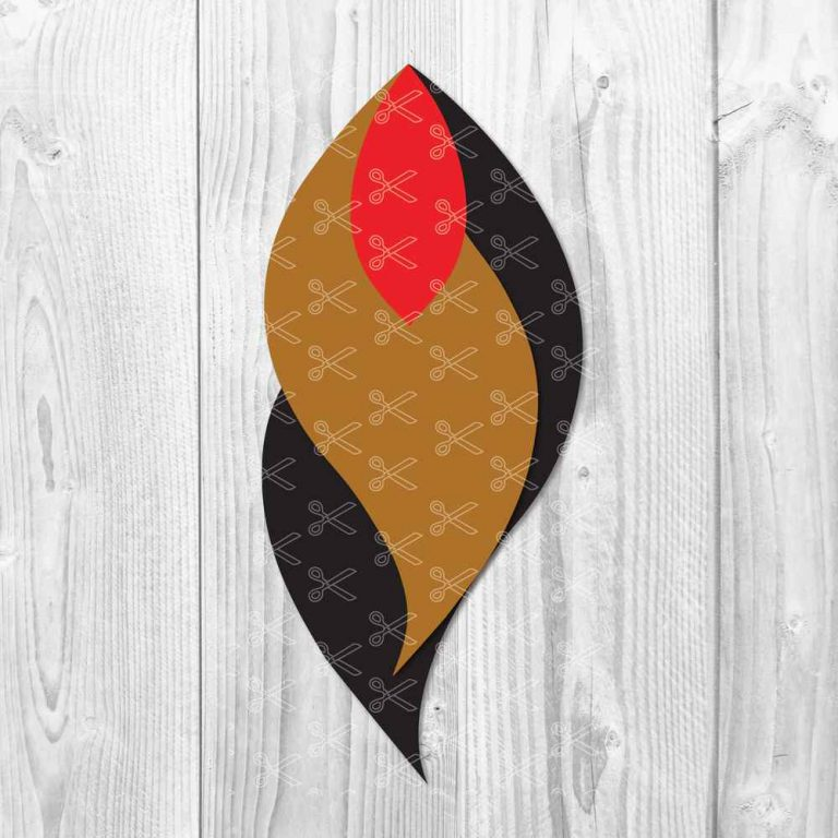 Feather Leaf Earring SVG
