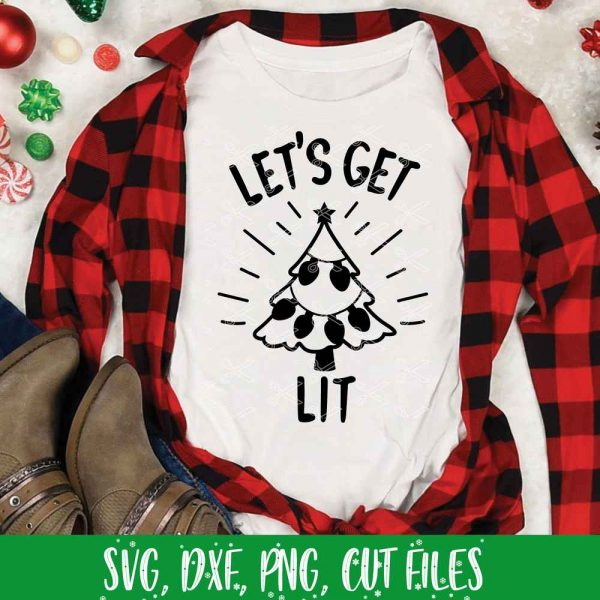 Let's Get Lit SVG Christmas Craft File