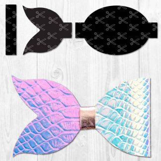Mermaid Hair Bow SVG