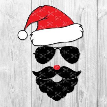 Santa Face SVG