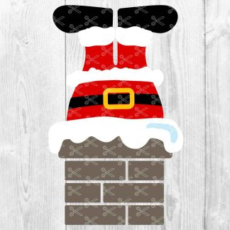 Santa in Chimney SVG