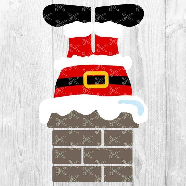 Santa in Chimney SVG