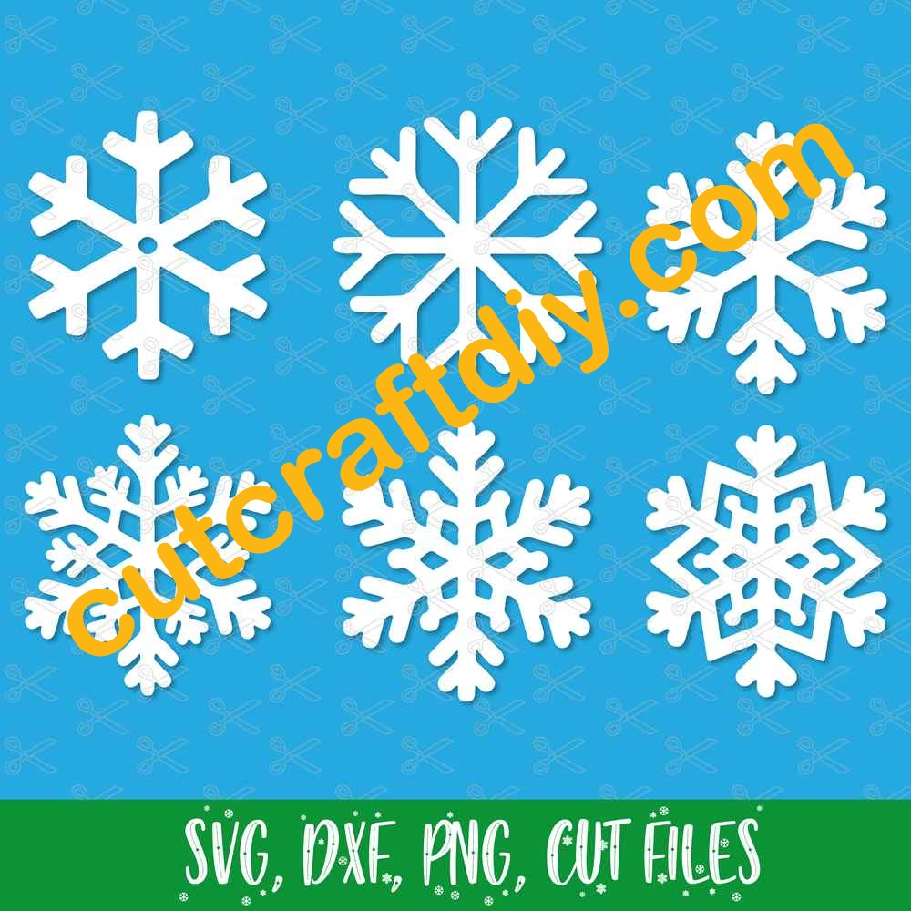 Christmas Snowflake Svg Dxf Png Cut Files High Quality Premium Design