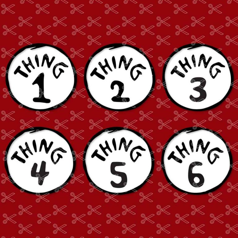 Thing One and Thing Two SVG
