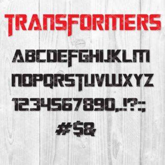 Transformers SVG Font