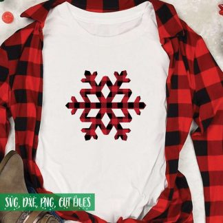 Buffalo Plaid Snowflake Cut File
