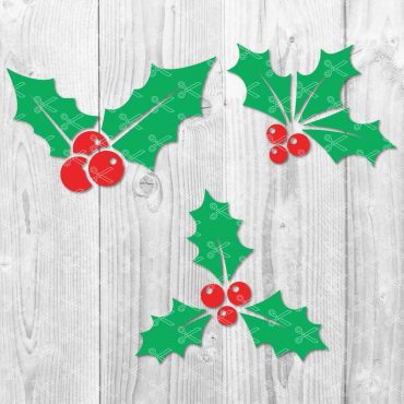 Christmas Holly SVG File