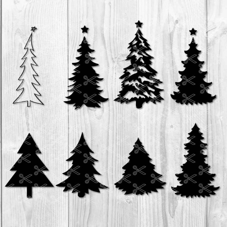 Christmas Tree Svg Dxf Png Bundle Holiday Svg Cut Files