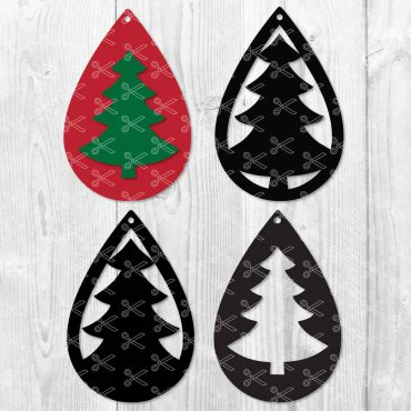 Christmas Tree Earrings SVG