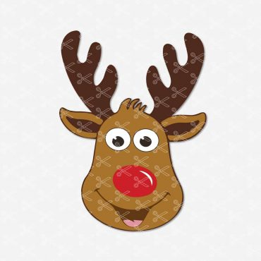 Deer-Face-SVG