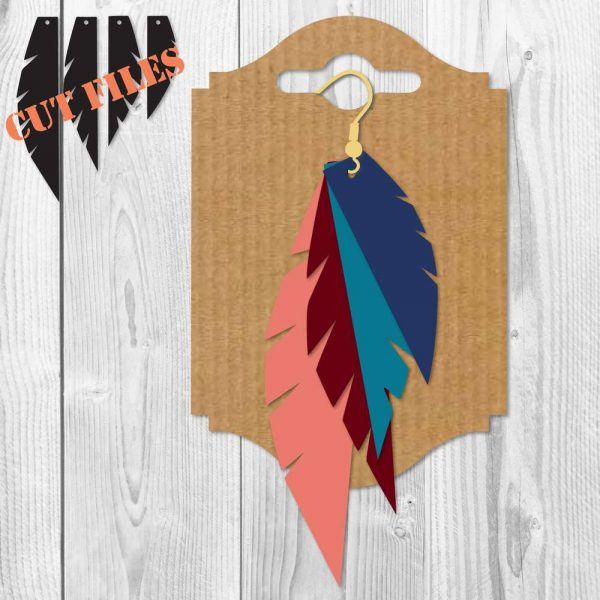 Feather Earrings SVG