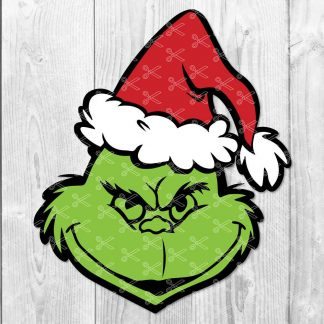 Grinch Face SVG