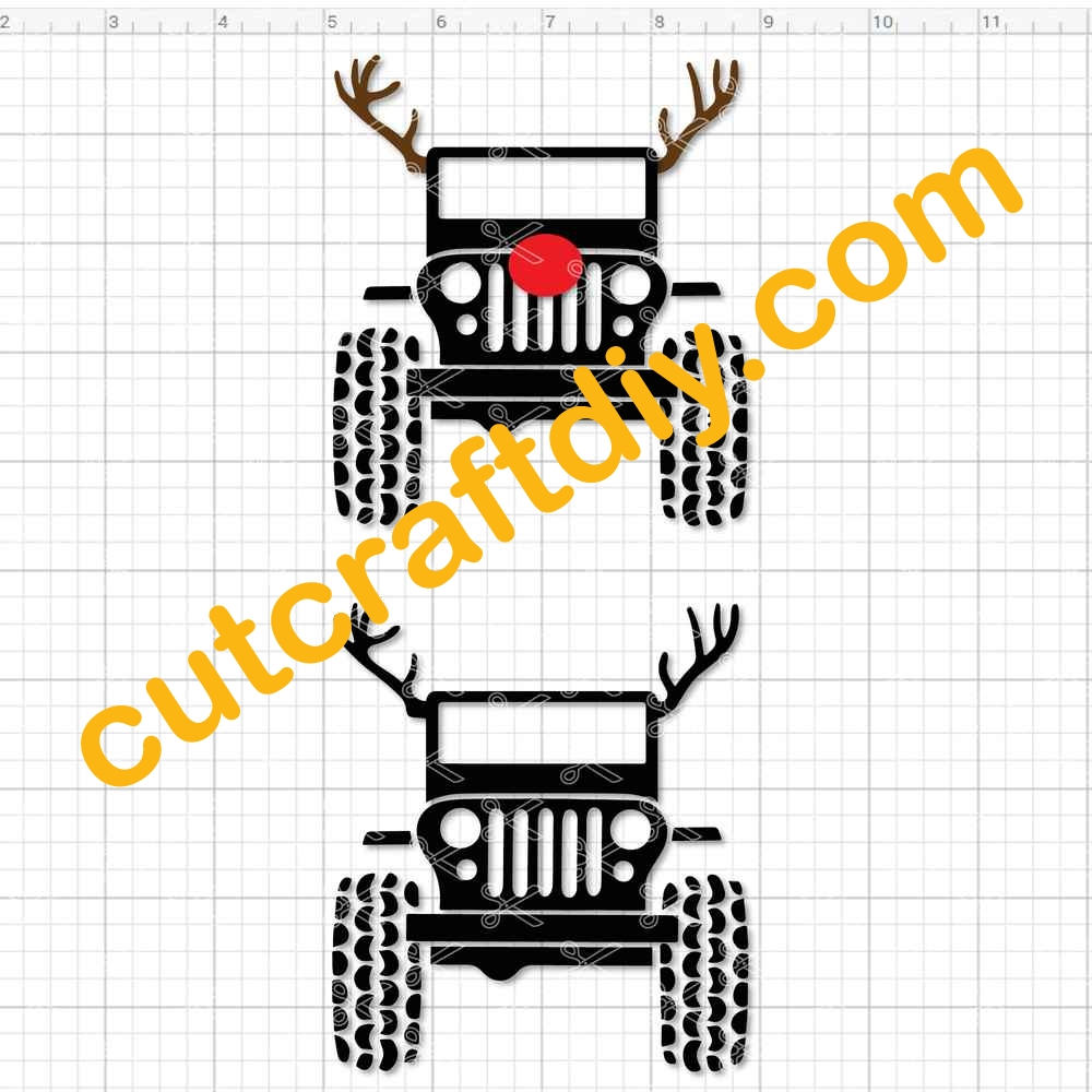 Jeep And Deer Svg Png Dxf Cutting Files
