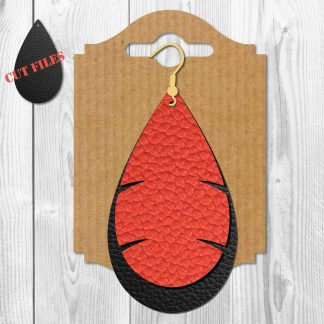 Leaf Teardrop Earrings SVG