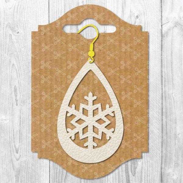 Snowflake Earring SVG