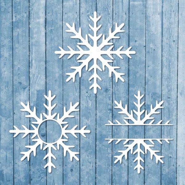 Snowflake Monogram SVG