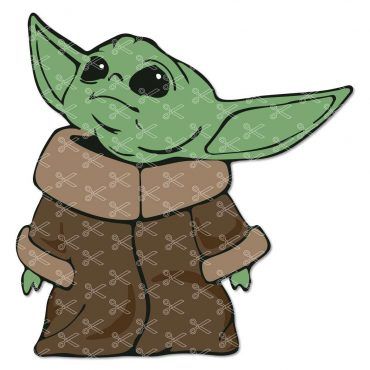Baby Yoda SVG Cut File