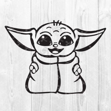Baby Yoda - Star Wars SVG