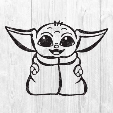 Baby Yoda - Star Wars SVG