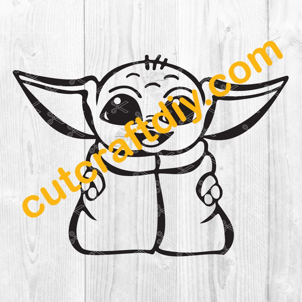 The Child Baby Yoda Svg Dxf Png Star Wars Svg Cut File