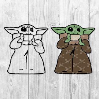 The Child SVG - Baby Yoda SVG