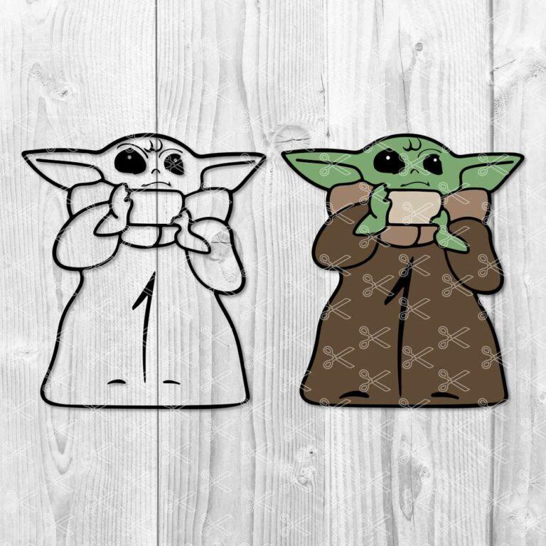 FREE The Child SVG - Baby Yoda SVG