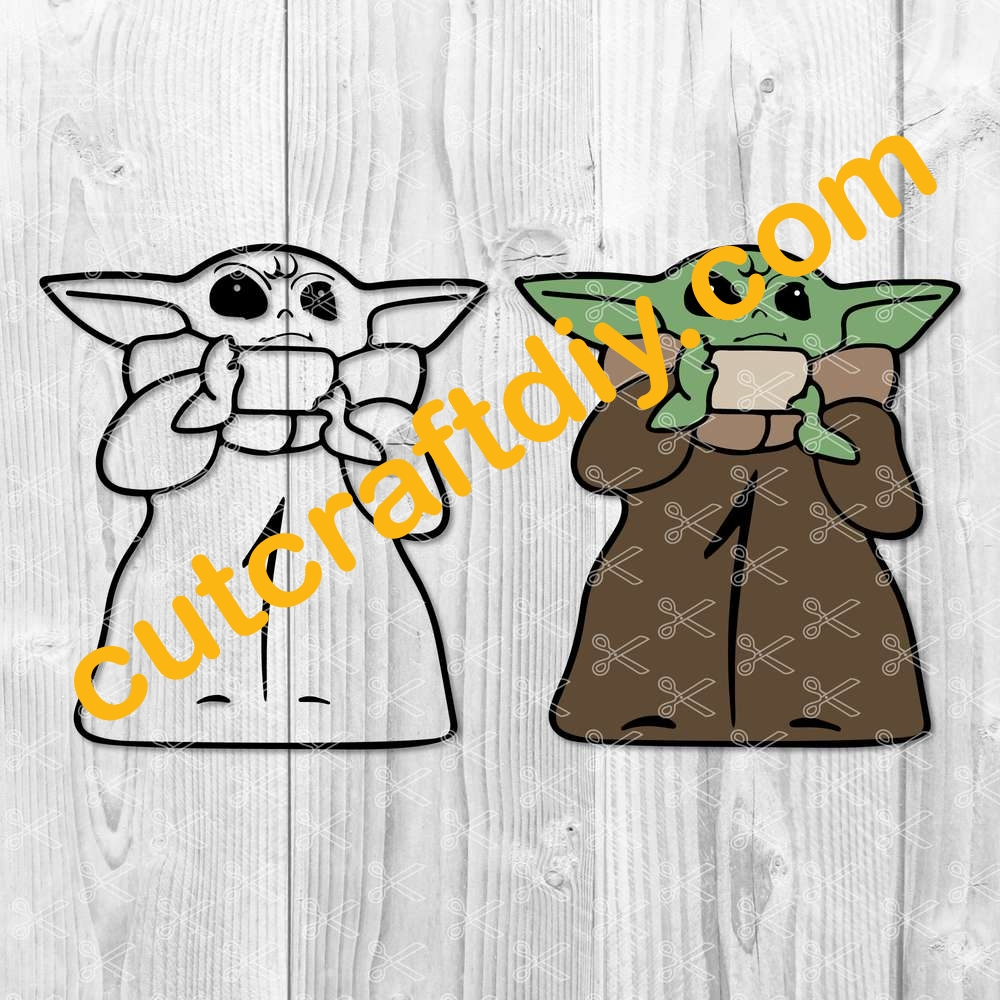 Download The Child SVG DXF PNG - Baby Yoda Cut Files - High Quality ...
