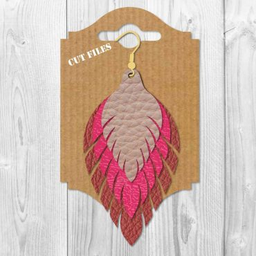 Fringe earrings SVG