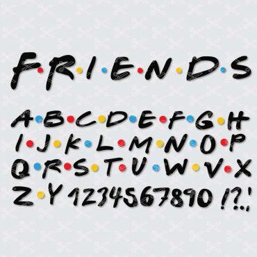 Friends Font SVG