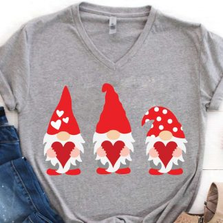 Gnome Valentine SVG 324x324 - Valentine Gnome SVG DXF PNG Cut Files
