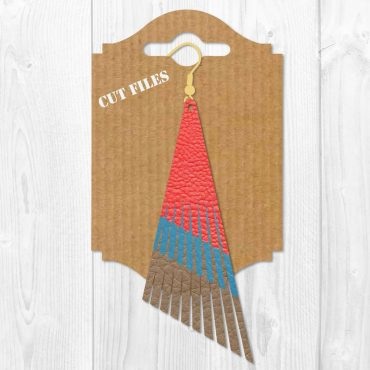 Long Fringe Earring SVG