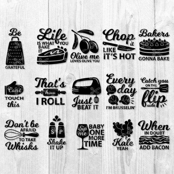 Kitchen Quote SVG Bundle