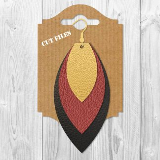 Leaf Stacked Earrings SVG