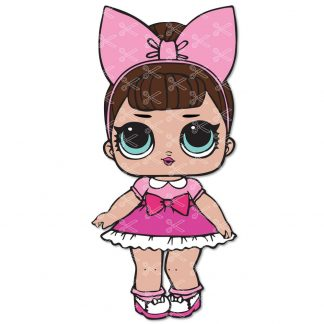 Glitter Fancy LOL Surprise Doll SVG