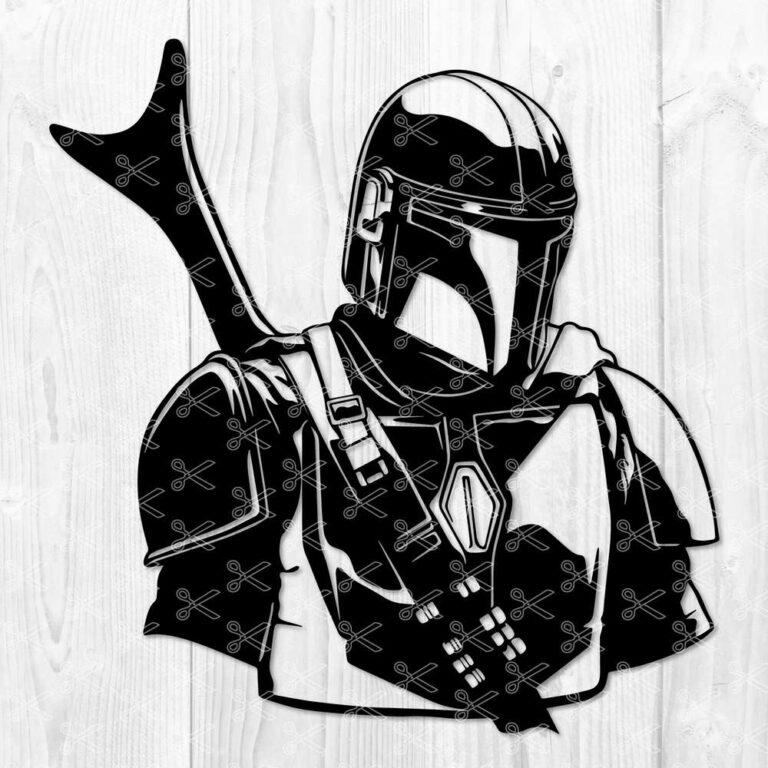 The Mandalorian Star Wars SVG Boba Fett