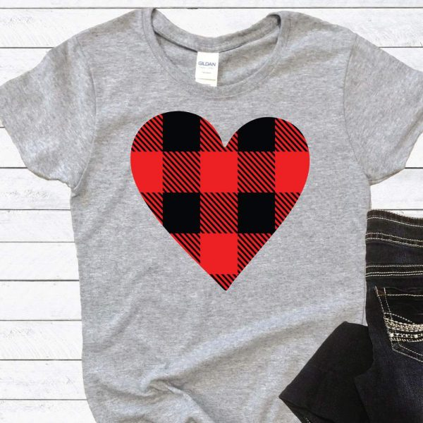 Buffalo Plaid Heart SVG File