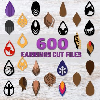 Huge Earrings SVG Bundle